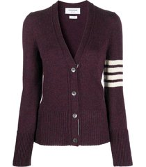 classic wool v-neck cardigan, burgundy