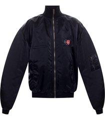 logo-embroidered jacket