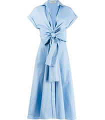 sampuesana dress in chambray
