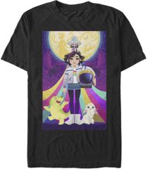 fifth sun men's over the moon graphic poster short sleeve t-shirt