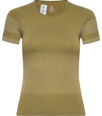 elevate move'on tee w t-shirts & tops short-sleeved grön salomon