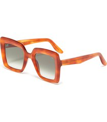 'teresa' square tortoiseshell effect acetate frame sunglasses