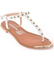 priceshoes sandalia plana dama 482almablanco