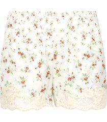 pluie de roses print shorts