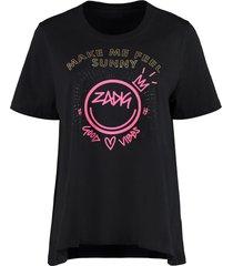 zadig & voltaire embellished print t-shirt