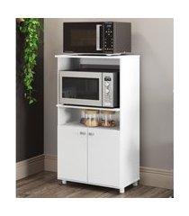 armário multimóveis multiuso para forno e microondas branco ref.6148g branco