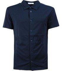 cruciani blue cotton polo shirt