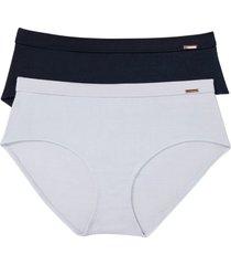 culotte a vita alta feel comfort (pacco da 2) (grigio) - bpc bonprix collection