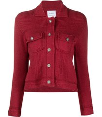 barrie fitted cashmere-blend jacket - red