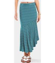 tyrah asymmetrical skirt - turquoise