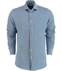 profuomo knitted shirt lichtblauw pp0h0a050/4