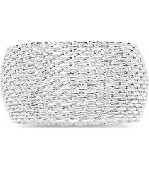 sterling forever women's sterling silver mesh band ring - size 8