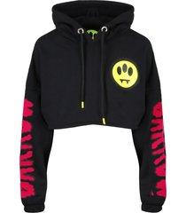 barrow rainbow smile crop hoodie