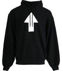 arrow wi-fi logo hoodie, black