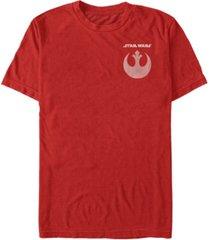 fifth sun star wars men's rebel straight logo and icon short sleeve t-shirt