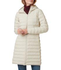 women's helly hansen urban liner hooded puffer coat, size medium - ivory