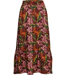 printed maxi skirt knälång kjol multi/mönstrad scotch & soda