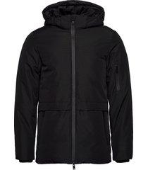 orson outerwear parka coat parka jacka svart casual friday