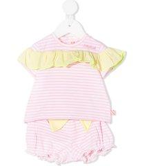billieblush striped-print shorts set - white