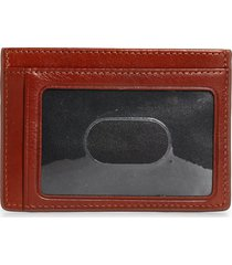 nordstrom richmond leather id card case in brown henna at nordstrom