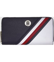 billetera th core lrg za wallet azul tommy hilfiger