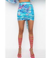 akira just the richest ruched mini skirt