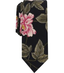 bar iii men's hardin floral skinny tie, created for macy's