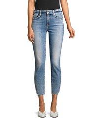 skinny ankle slit jeans