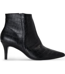 amaro feminino bota cano curto textura, preto