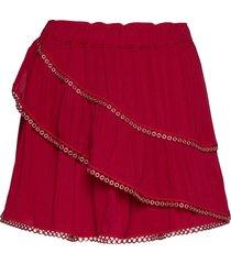 nisia kort kjol röd iro