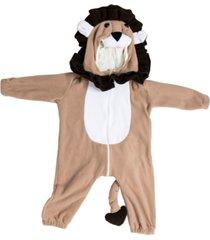macacão pijama leão marrom
