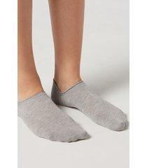 calzedonia unisex cotton no-show socks man grey size 37-39