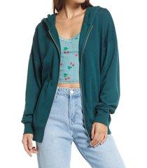 women's bp. oversize cotton blend hoodie, size x-large - green