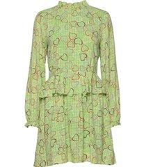 christine, 783 hearts poly korte jurk groen stine goya