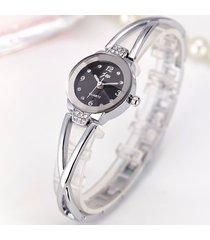 orologio da polso al quarzo moda oro argento cinturino in acciaio quadrante rotondo gioielli dolce per le donne