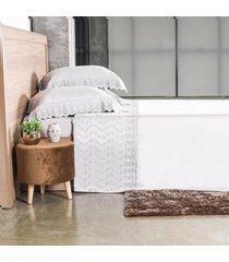 jogo de cama 300 fios casal bordado inglês toque acetinado raffinato - tessi