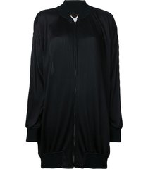 comme des garçons pre-owned pleated bomber jacket - black