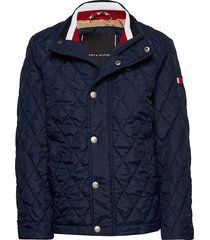 classic quilted jacket dun jack shelljack blauw tommy hilfiger