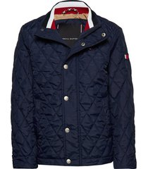 classic quilted jacket gevoerd jack blauw tommy hilfiger