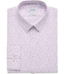 calvin klein pink floral extreme slim fit dress shirt