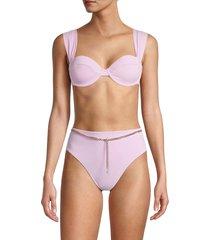 weworewhat women's claudia underwire bikini top - lilac - size xs