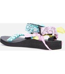 arizona love women's trekky bandana sandals - mix aqua - uk 8