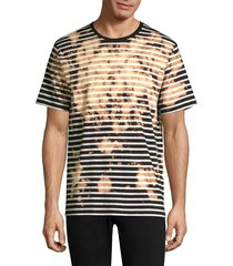 prps men's striped bleach tee - yellow - size s
