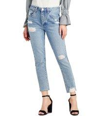 sam edelman the stiletto cotton ripped straight-leg jeans