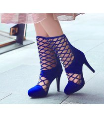 ps400 sweet caged booties, high heels, us size 2-10, blue