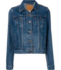 levi's distressed jacket - blue