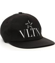 women's valentino garavani vltn star baseball cap - black