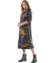 vestido estampado lanilla azul marino bous
