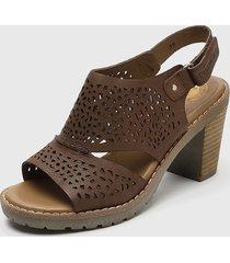 sandalia cuero marrón panama jack
