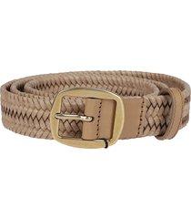 beige leather belt